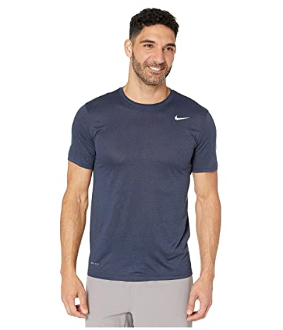 Nike Legend 2.0 Short Sleeve Tee (Obsidian/Heather/Matte Silver) Men