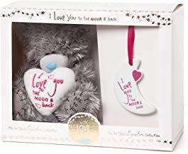 Me To You MGZ01013 I Love You to The Moon and Back' Tatty Teddy Bear and Plaque Set