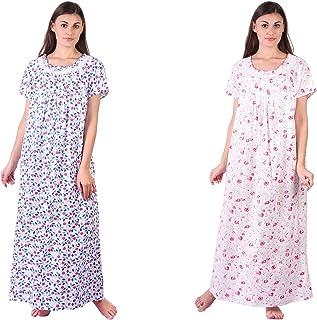 Himashu Handlooms Women's Cotton Nighty (Multi-Coloured)