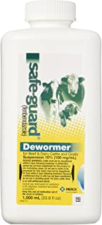 Merck Safe-Guard Dewormer Suspension for Beef, Dairy Cattle and Goats, 1000ml