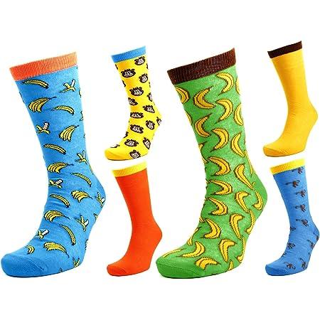 Tom Franks 6 Pairs of Mens Monkey & Bananas Character Socks 7-11