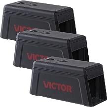 Victor M241SR-3 Electronic Rat Trap-3 Pack, Black
