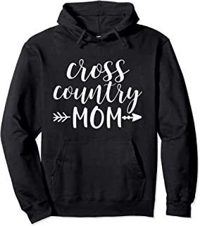 Cross Country Mom & Arrow in White Text Runner Gift ACN015b Pullover Hoodie