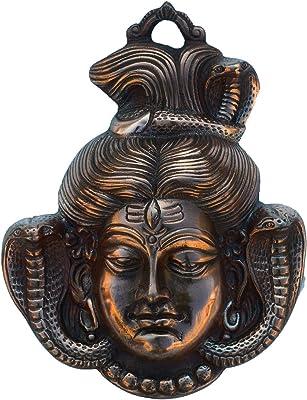 eCraftIndia Metal Lord Shiva Wall Hanging (Brown)