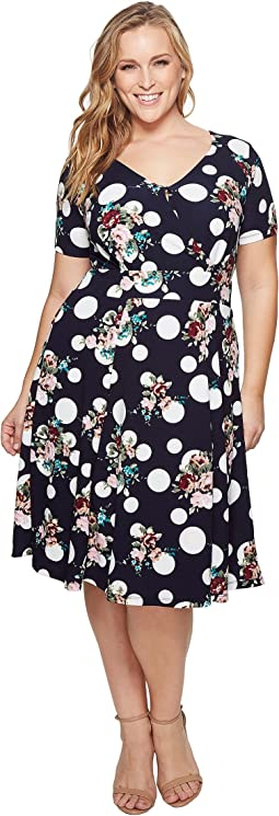 KARI LYN - Plus Size Stephanie Fit and Flare Dress