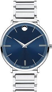 Movado - Ultra delgado azul Dial Mens Reloj 0607168