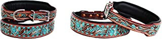 PRORIDER Small 13''- 17'' Dog Puppy Collar Cow Leather Adjustable Padded Canine 6087