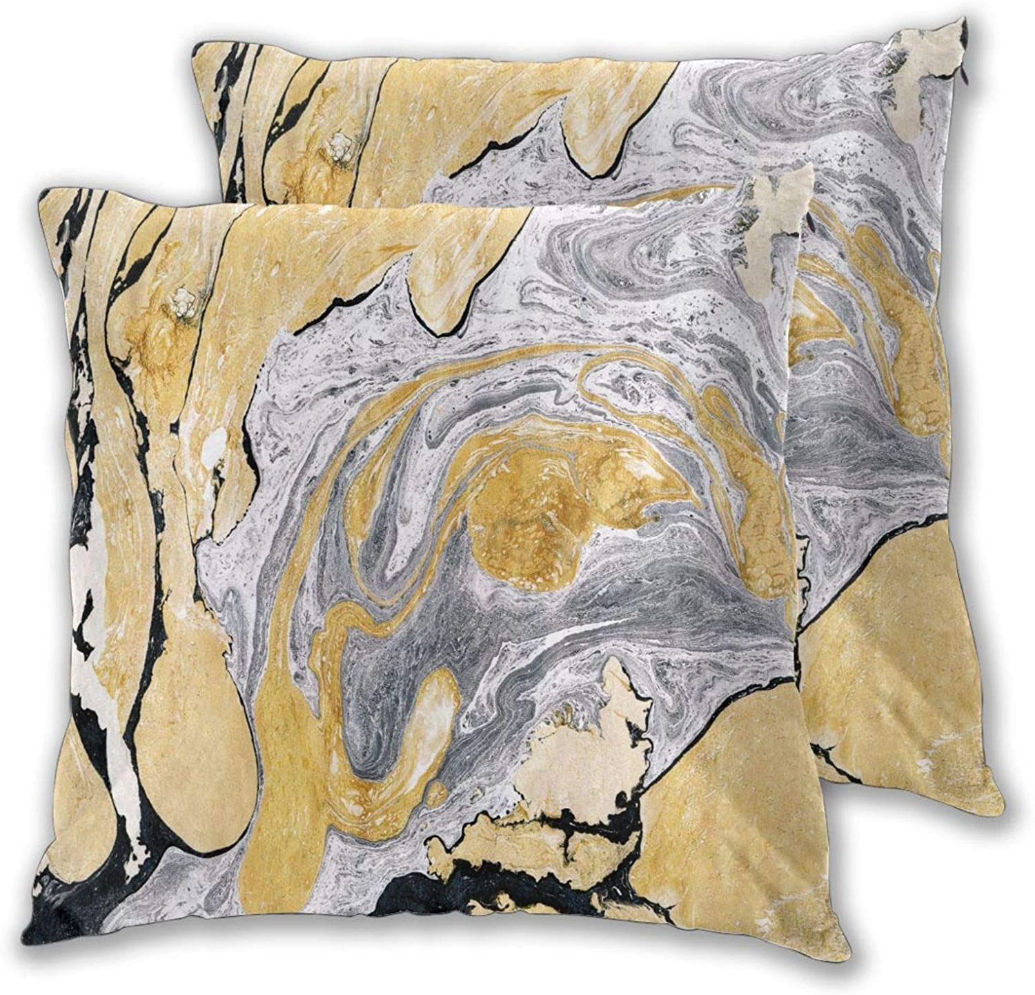 Max 77% OFF Selling and selling 2pcs 18x18 Inch Throw Pillow Golden Black-Gold Silver Covers and
