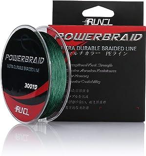 RUNCL PowerBraid Fishing Line 4/8/9 Strands, Braided Fishing Line 300/500/1000Yds –..