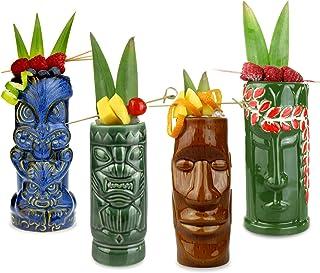 ristorante festa decorazioni per la casa Tiki Mugs Cup bar 17,5 once Gres Birra fatta a mano Tiki Bar Bicchieri Cocktail Bicchieri Cocktail hawaiani per spiaggia