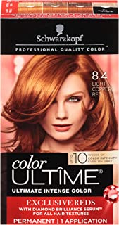 Schwarzkopf Color Ultime Permanent Hair Color Cream, 8.4 Light Copper Red
