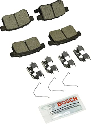 Bosch BC1451 QuietCast Premium Ceramic Disc Brake Pad Set For: Acura TSX; Honda Accord, Rear