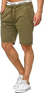 Caballero Kelowna Pantalones Cortos Chinos con 4 Bolsillos y cordón de 98 % algodón | Más Corto Pantalón Regular Fit Bermudas Verano Men Pants Chino para Hombres