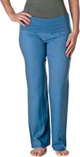 Love Tree Women's Fold-Over Waist Linen Pants