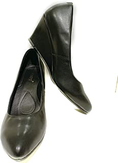 Hype Latest Collection, Comfortable & Fashionable Bellies, Black Designer Platform Bellies with Dutch Heel for Women's & Girls.(Genuine Leather)