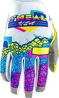 O'NEAL   Fahrrad & Motocross Handschuhe   MX MTB DH FR Downhill Freeride   Langlebige, Flexible Materialien, Nanofront Handpartie   Mayhem Glove   Erwachsene   Weiß Gelb Blau   Größe M