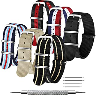 CIVO NATO Strap 6 Packs 18mm 20mm 22mm Bracelets de Montre en Nylon balistique Bracelets Zulu Boucle en Acier Inoxydable a...