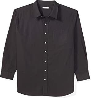 Amazon Essentials Men's Big & Tall Long-Sleeve Solid Shirt fit by DXL