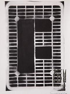 Letra F ABC Hort por Fabio De Minicis - Lienzo original 1/7-50 x 70 cm.