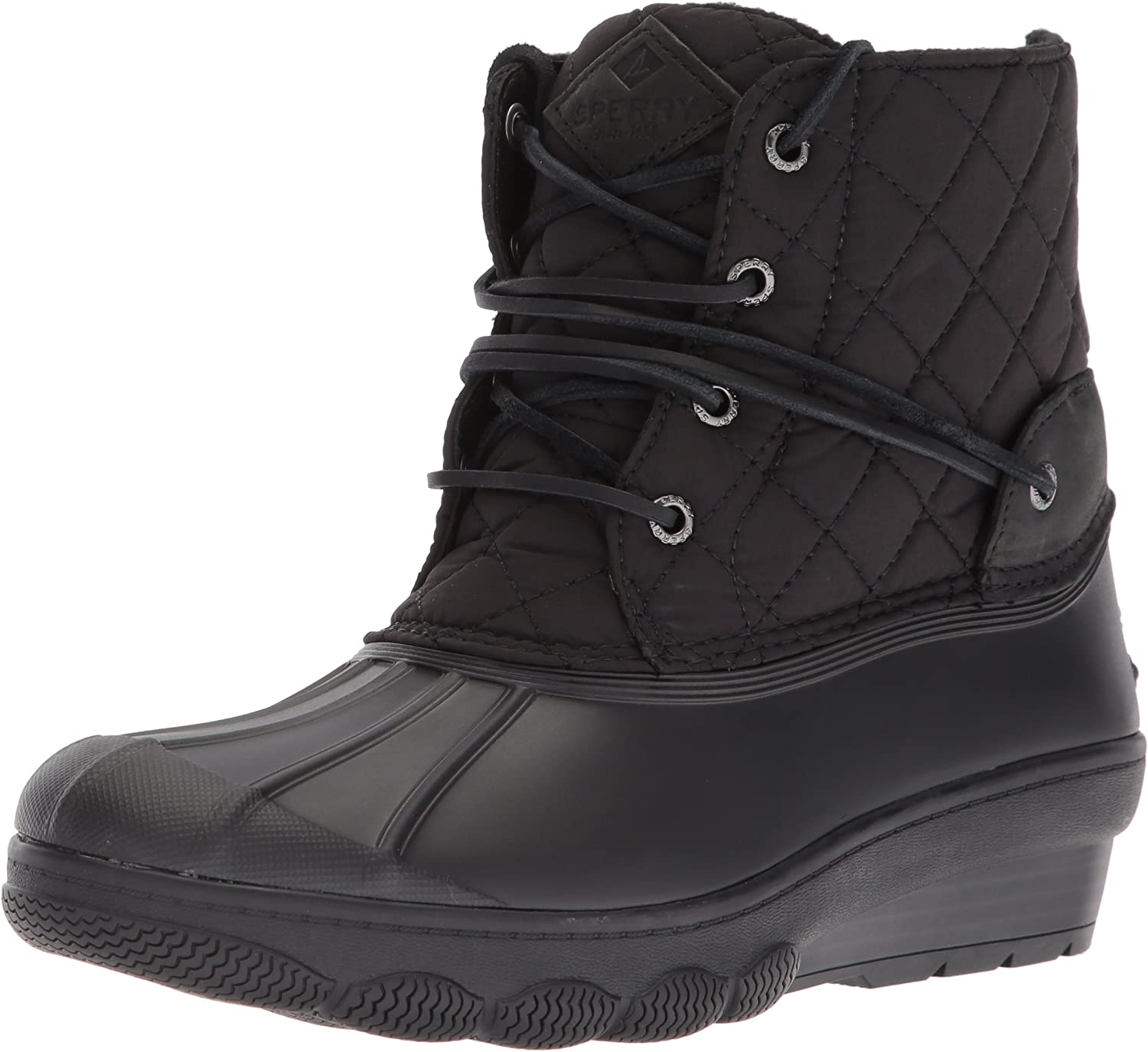 Sperry Womens Saltwater Wedge Tide Quilted Rain Boot