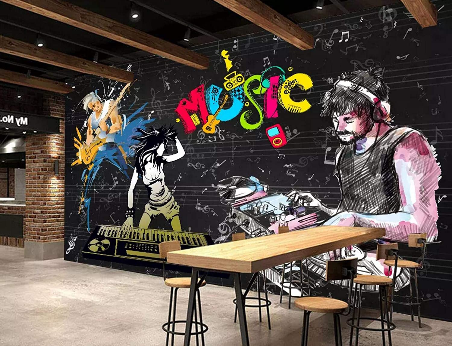 3D Rock and Roll Music Japan Maker New 283 Mura Wall Decal Deco Paper Print Ranking TOP10