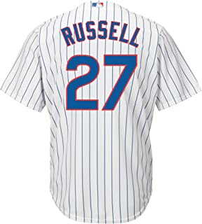 Addison Russell Chicago Cubs White Youth Cool Base Home Replica Jersey