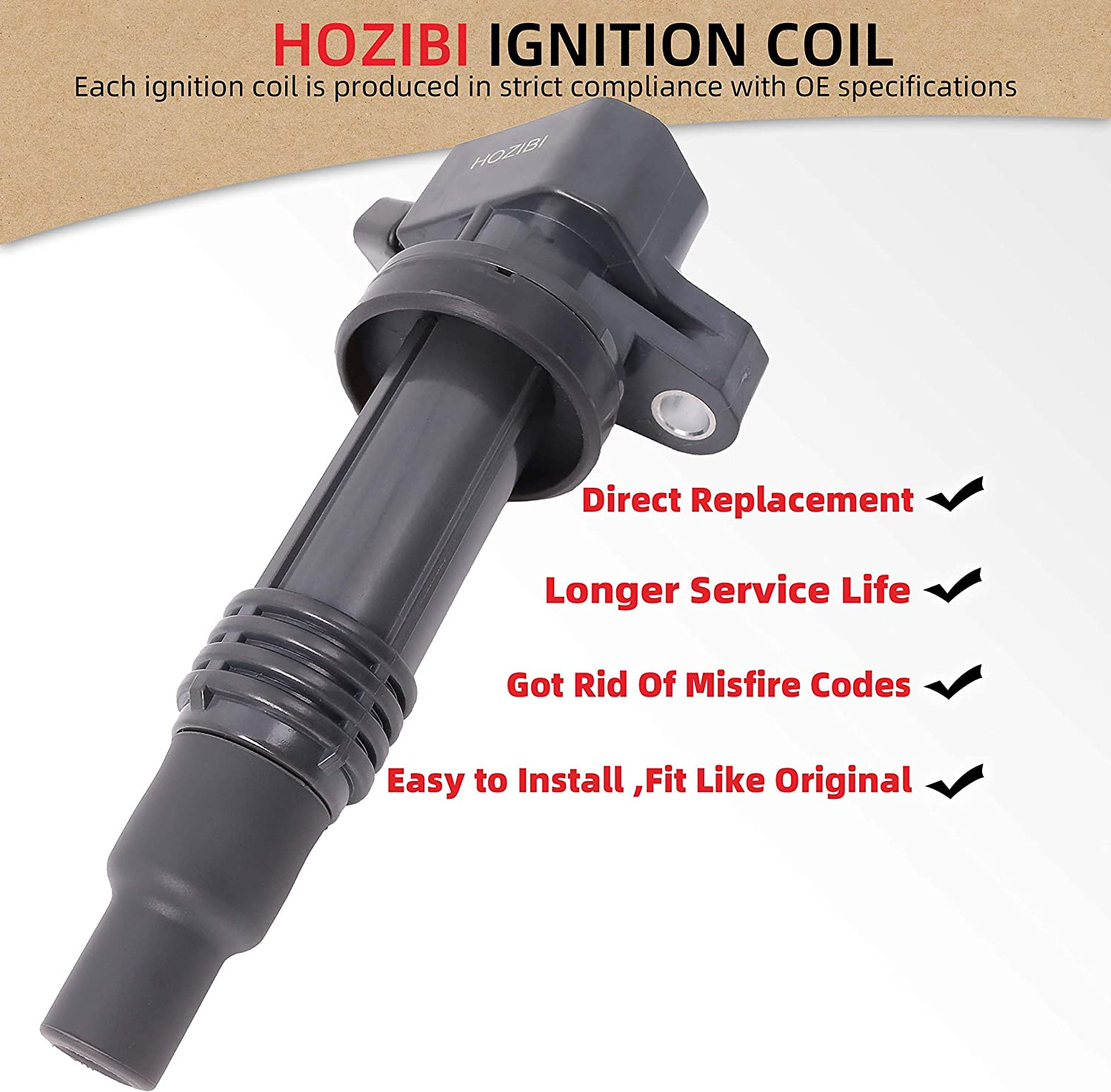 HOZIBI 90919-02236 9091902236 1PCS Ignition Coil Compatible with ...