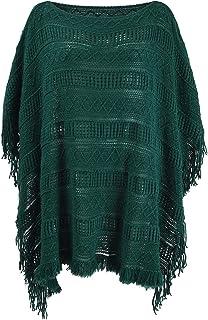 Women's Shawl Poncho Wrap Winter Sweater Cape Pullover Crochet Coat