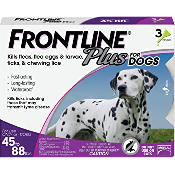 Frontline Plus Flea and Tick Treatment for Large Dogs (45-88 Pounds)
