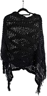 Tickled Pink Woman's Fashionable Poncho - One Size Fits Most