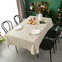 Bringsine Christmas Holiday Round Tablecloth Green Gold Snowflakes الحديثة الجدول الكتان غطاء القماش للمطبخ غرفة الطعام حز...