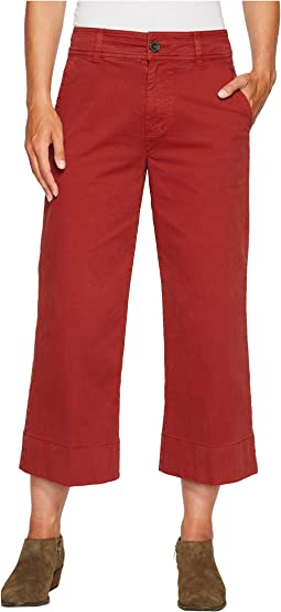 Wide Leg Crop Pants in Rich Sienna