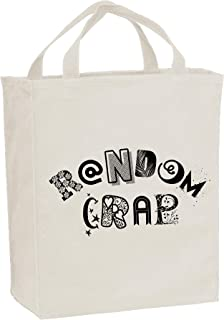 Random Crap - Stuff Things Carryall Funny Snarky Canvas Reusable Grocery Tote Bag - Natural