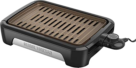 George Foreman GFS0090SB Open Grate Smokeless Grill, Black, Family Size