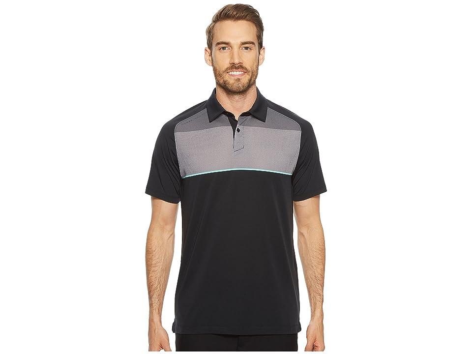 Under Armour Golf Threadborne Infinite Polo (Black/Zinc Gray/Rhino Gray) Men