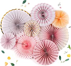 PapaKit Origami Wall Decoration Set (8 Assorted Round Paper Fans) Birthday Party Baby Shower Wedding Events Decor | Creati...