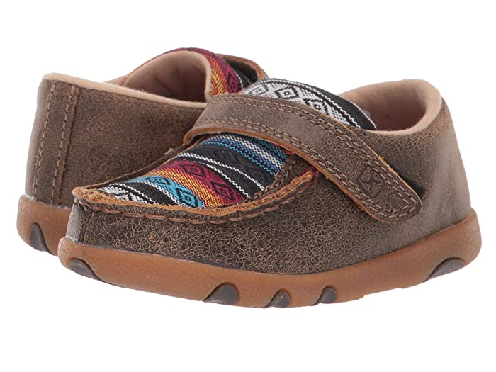 Twisted X  Driving Moc (Infant/Toddler) (Bomber/Multi Serape) Shoes