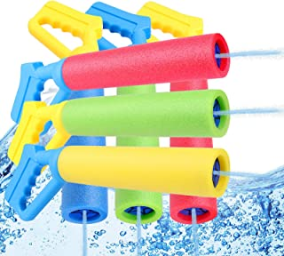 6-Pack Foam Water Blaster, Water Squirt Guns, Shooting Up to 30 Feet Outdoor Swimming Pool Summer Fun Party Games Water To...