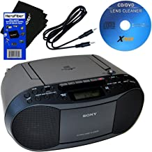 Sony CD Player Portable Boombox with AM/FM Radio & Cassette Tape Player + Xtech Aux..