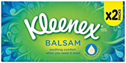 Kleenex Balsam Tissues - White, (2 in a pack)