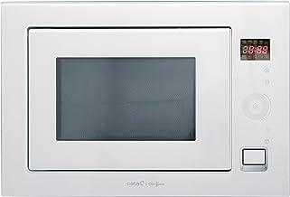 Cata WH Encastrable | Modelo MC 25 GTC| Con capacidad de 25 Litros | Cinco Niveles de Potencia | Microondas con grill simultáneo de Cuarzo 1100 W | Ancho de 60 cm | Color Negro, 900, Acero, Blanco