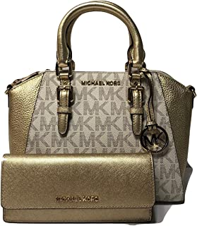 Ciara MD Messenger Handbag bundled with Michael Kors Jet Set Travel Flat Wallet