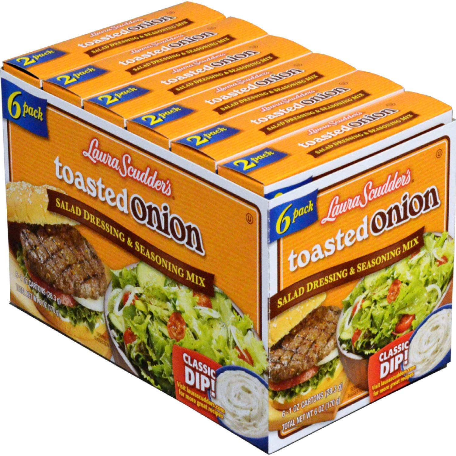 Laura Scudder's In a Limited time sale popularity Toasted Onion Salad Mix Seasoning 6-1 Dressing
