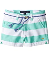 Tommy Hilfiger Kids Rugby Stripe Shorts with Rope Belt (Little Kids)