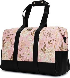 BADGLEY MISCHKA Essence Travel Tote Weekender Bag - Packable Travel Bag (Pink Floral)