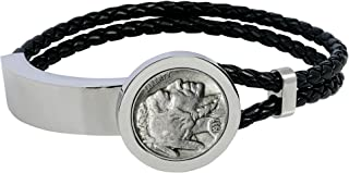 buffalo nickel leather bracelet