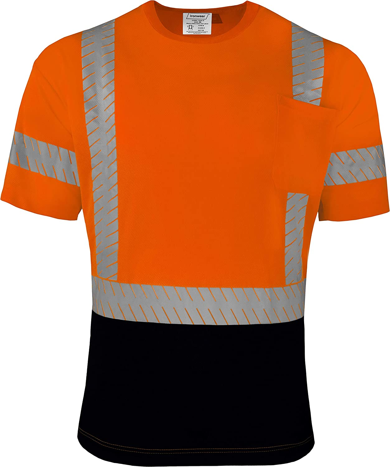 safety Ironwear 1840 Class 3 Hi-Vis Two-Toned Reflecti Time sale Transferred Heat