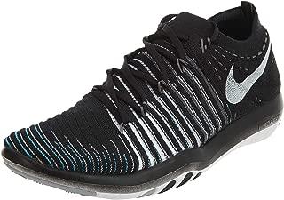 Women's Free Transform Flyknit Training Shoe, BLACK/WHITE-WOLF GREY-DARK GREY, 7.5 B(M) US