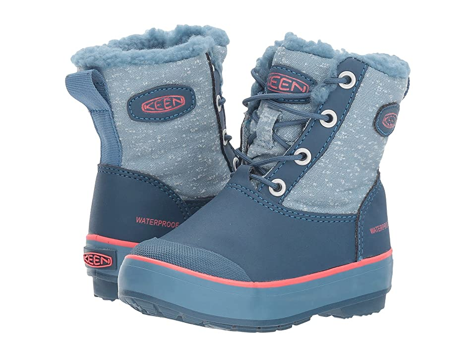 Keen Kids Elsa Boot WP (Toddler/Little Kid) (Captains Blue/Sugar Coral) Girls Shoes