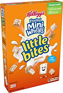 Kellogg's Frosted Mini-Wheats Little Bites, Breakfast Cereal, Original, Excellent Source of Fiber, Family Pack, 15.9oz
